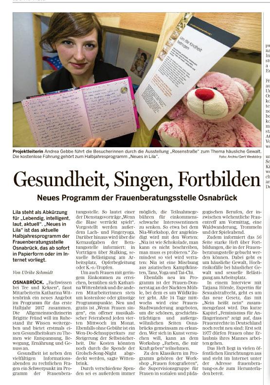 Neues Programm der Frauenberatungsstelle Osnabrück